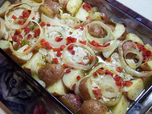 Ranch Roasted Pork Chops & Red Potatoes Recipe