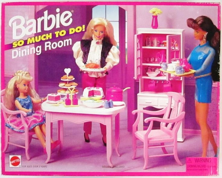Barbie So Much To Do Dining Room Playset 1995 New