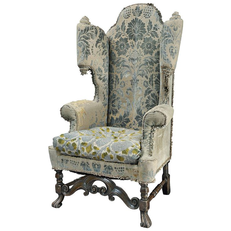 19th Century Carolean Style Scroll Wing Armchair with Personality!|~1stdibs.com