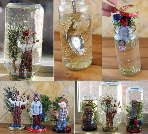 DIY Personalized Christmas Snow Globes - Find Fun Art Projects to Do at Home and Arts and Crafts Ideas