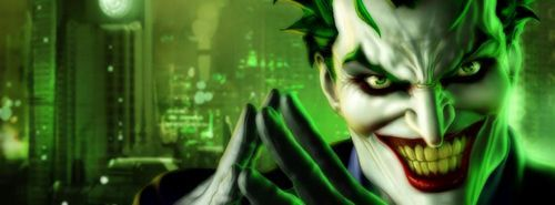 THE JOKER – GREEN LAUGH FACEBOOK COVER
