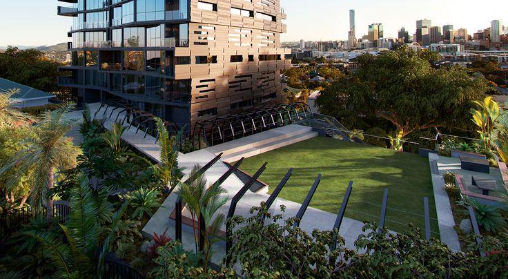The Highgate, Brisbane QLD Australia www.thumpbalustrades.com.au/the-highgate/ #framelessglassbalustrade #glassbalustrade #thumpbalustrades