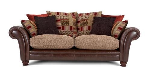 Perez 3 seater pillow back deluxe sofa bed alaska astrix for Perez 4 seater pillow back sectional sofa