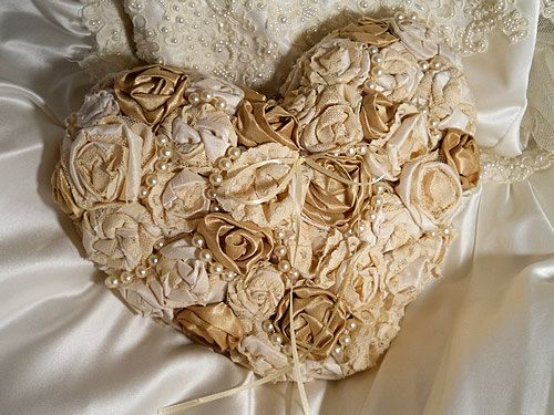 Beautiful Victorian Vintage Ring Bearer Pillow by PapernLace, $39.95