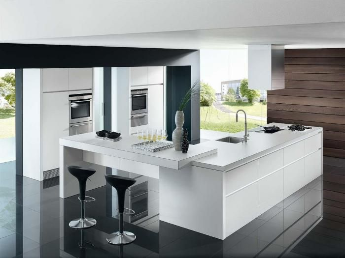 very modern kitchen