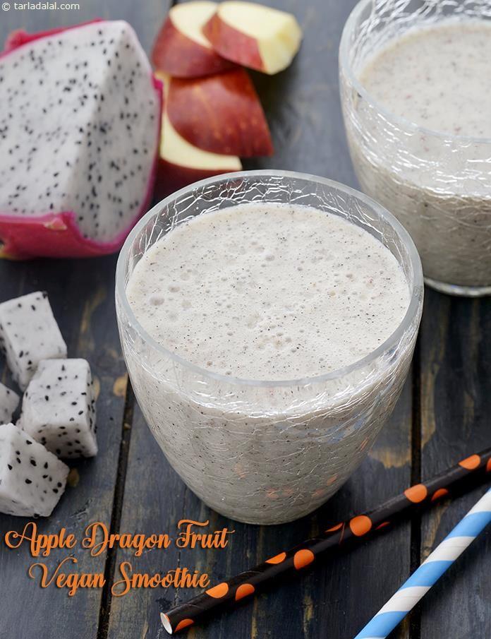 Apple Dragon Fruit Vegan Smoothie