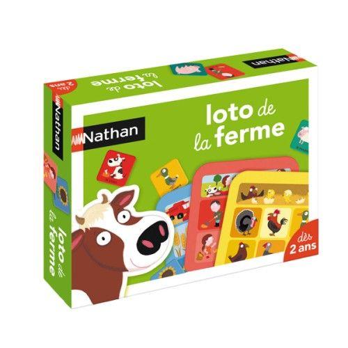 Loto de la ferme Nathan pour enfant de 2 ans à 5 ans - Oxybul éveil et jeux