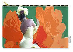 Carry-all Pouch featuring the digital art Dancer's Back by Francesca Mackenney