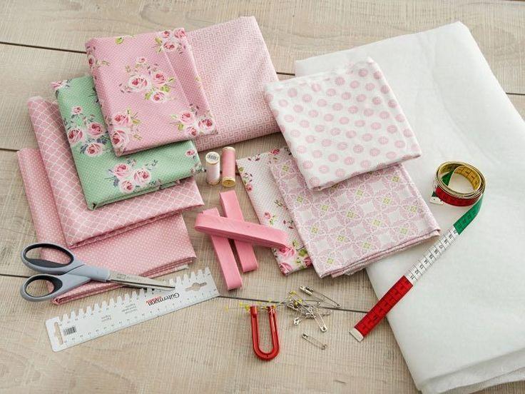 DIY-Anleitung: Einfache Patchworkdecke in Pastellfarben nähen via DaWanda.com