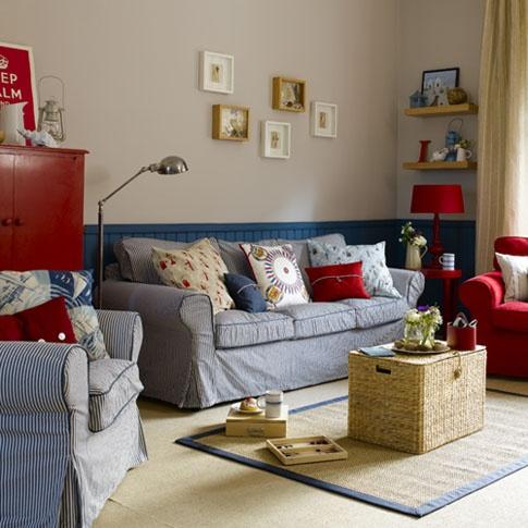 kırmızı mavi oturma odası  http://www.dekorasyoncini.com/k/genel/
