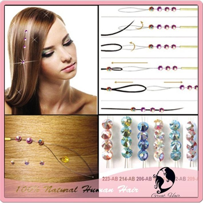 Buy Hair Net will get a Gift 150 packs/Lot 8 Vivid Colors Fashion  Hair Jewelry Crystal Hair Bling for Wedding / Parties