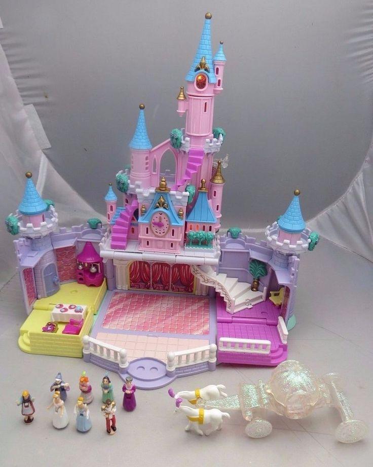 Vintage 1995 Polly Pocket Disney Cinderella's Enchanted Castle COMPLETE - works #BlueBirdToys #PollyPocketCompact