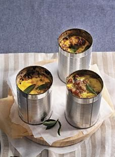 Individual bobotie pots! A South African favourite.