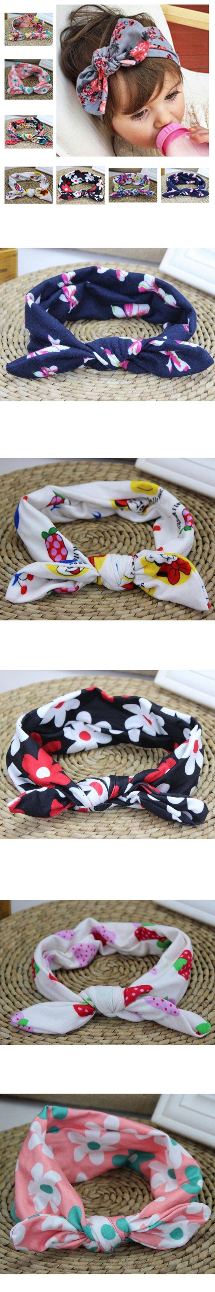 1 PC Baby Girls Toddler Infant Newborn Flowers Print Floral Bow Headband Kids Turban Top Knot Baby Headband Hair Accessories