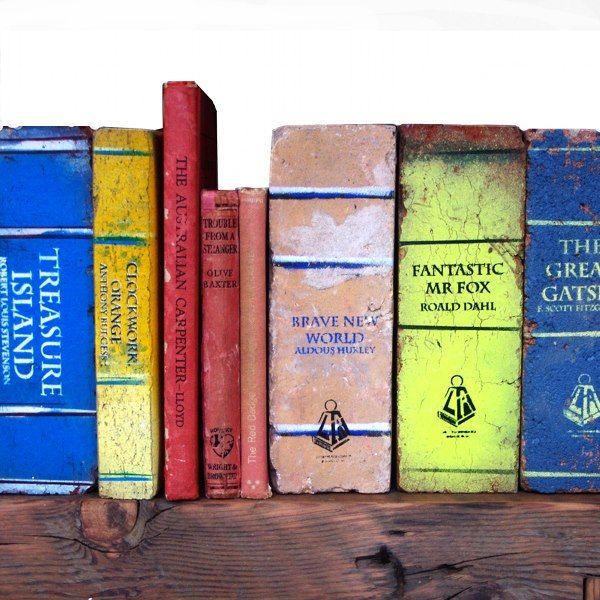 Brick Books are beautiful book objects that resemble old books, and are created from bricks. They are created by an Australian artists Daryl Fitzgerald of Light Reading Melbourne. Light Reading gains inspiration from our collective perception of heavy literature. Each brick is a secondhand paver – the texture, cracks and …