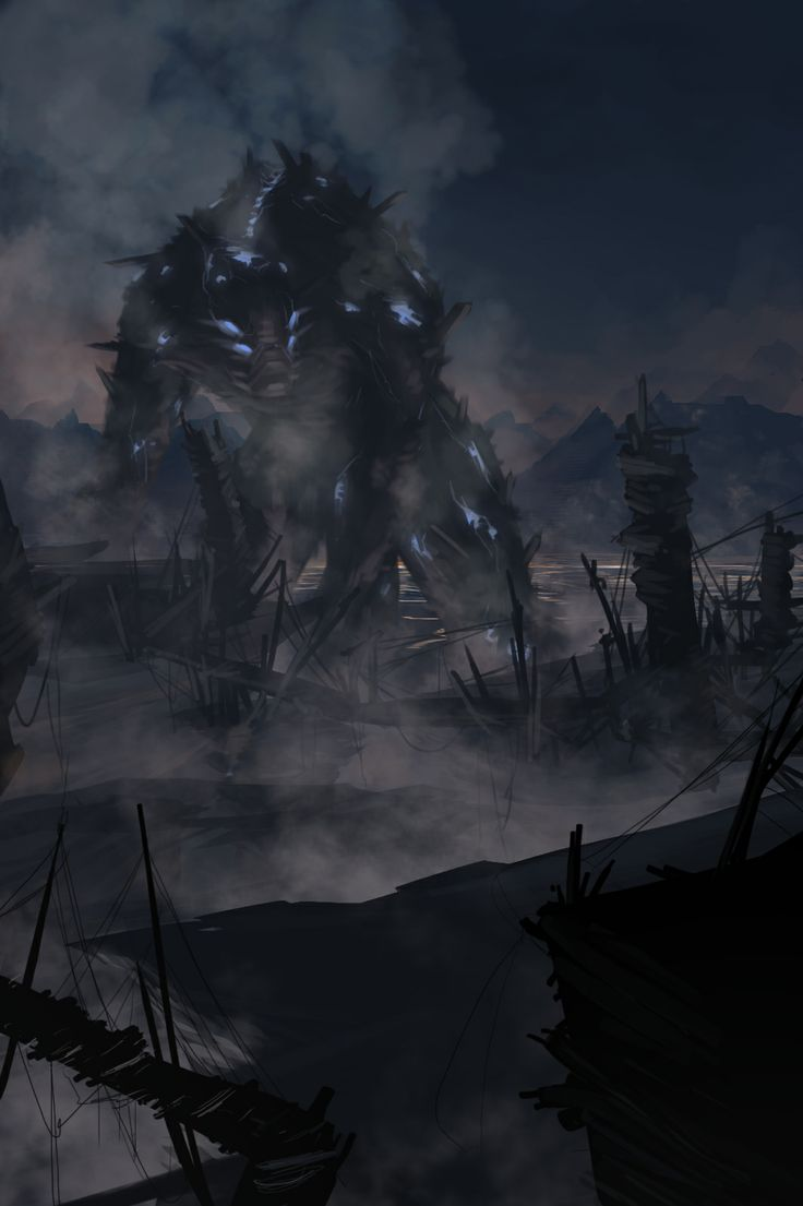 magma monster  digital concept  by emanuele desiati