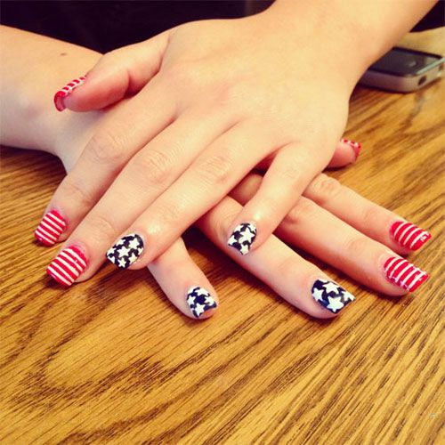 1000 ideas about 4th of july nails on pinterest for 4th of july nail art decoration flag