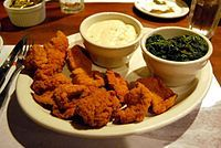 List of lamb dishes - Lamb fries are lamb testicles used as food, and are served in a variety of cuisines.