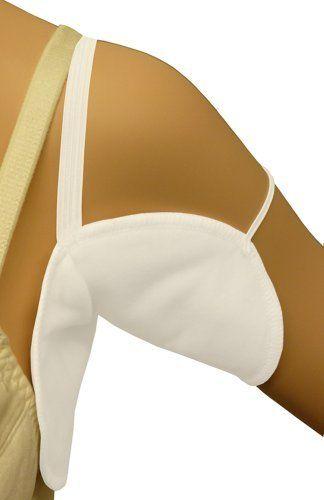Quickshields QD-7: Dress Shields with Elastic Arm Straps, Maximum Underarm Sweat Proof Pads, http://www.amazon.com/dp/B00DGYMH6W/ref=cm_sw_r_pi_awdm_ecLnwb1QNPRCH