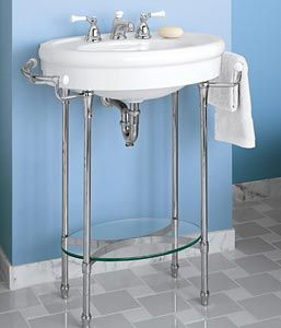 Find This Pin And More On Bathroom Ideas Standard Collection White Console Sink With Metal Legs