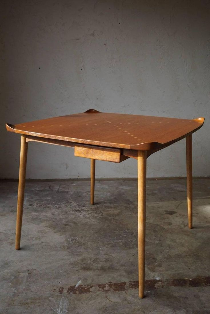 Exquisite Game Table Model FJ55 by Finn Juhl, 1948 | From a unique collection of antique and modern game tables at https://www.1stdibs.com/furniture/tables/game-tables/