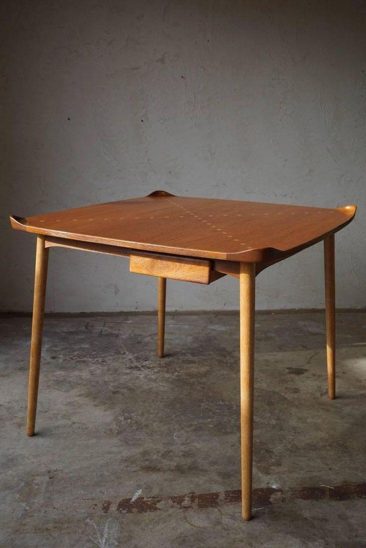 Exquisite Game Table Model FJ55 by Finn Juhl, 1948 | 1stdibs.com