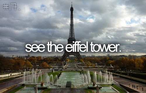 when i was a lil one i saw the eiffel tower so many times for pictures