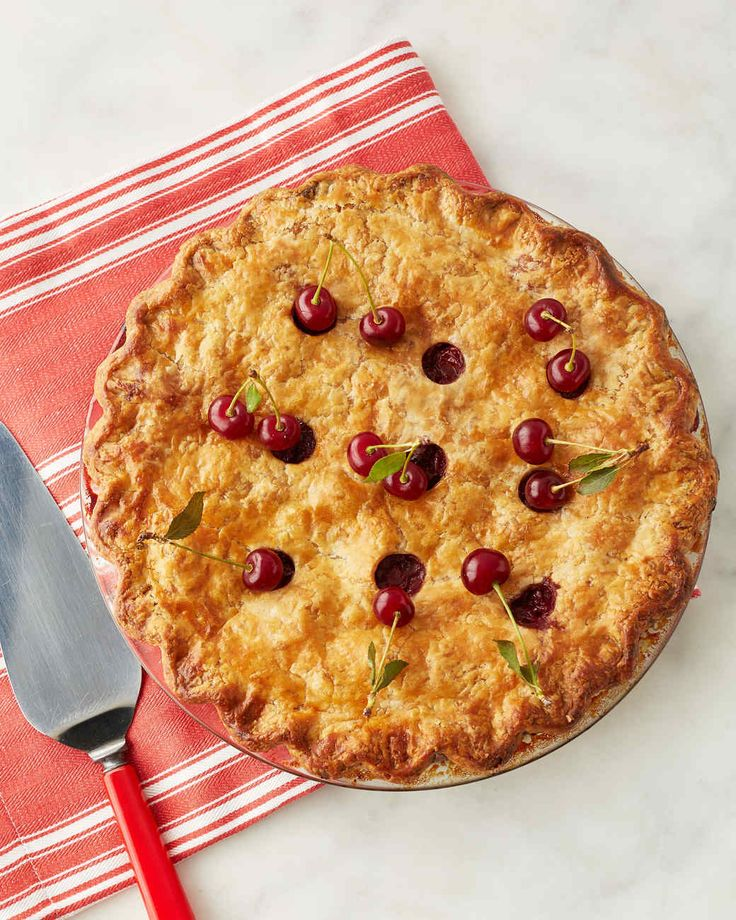 Martha made this recipe on episode 703 of Martha Bakes. The pie can be stored at room temperature for up to 2 days.