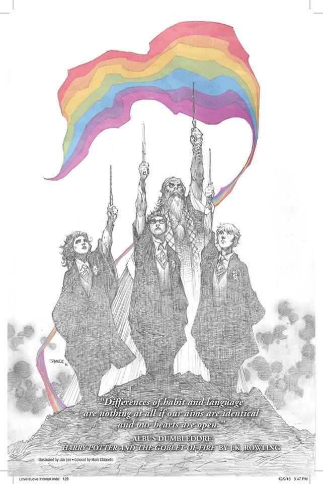 Harry Potter stands for Equality #HarryPotter #Equality #LGBT #LoveIsLove