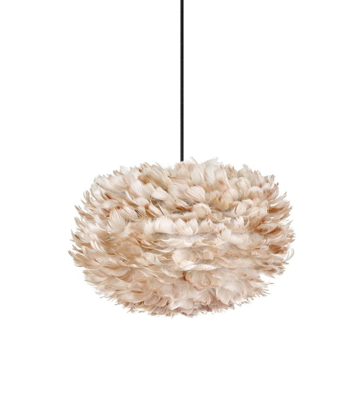 This Vita feather light shade medium EOS brown is beautiful to look at, casts a soft warm glow and is made of natural goose feathers. One of a kind.