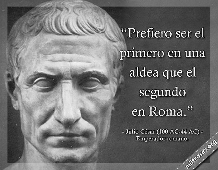 Julio César, emperador romano.