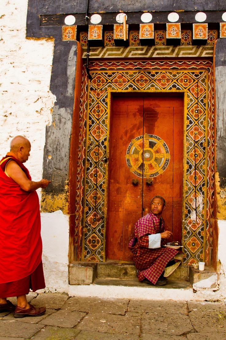 A Buddhist reprimand at the Tongsa Dzong. #bhutan #lensblr #photo #travelDoorway, Buddhists Monk, Bhutan Places, Gates Doors Windows Knobs, Places I D, Buddhists Doors, Indian Doors, Tibet Bhutan, Architecture Port