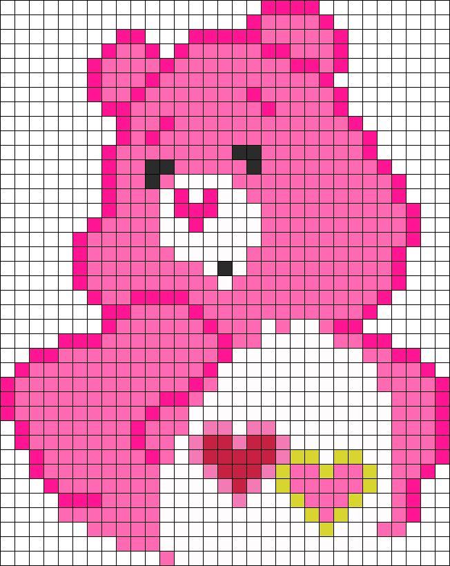 Love Bear Care Bears perler bead pattern