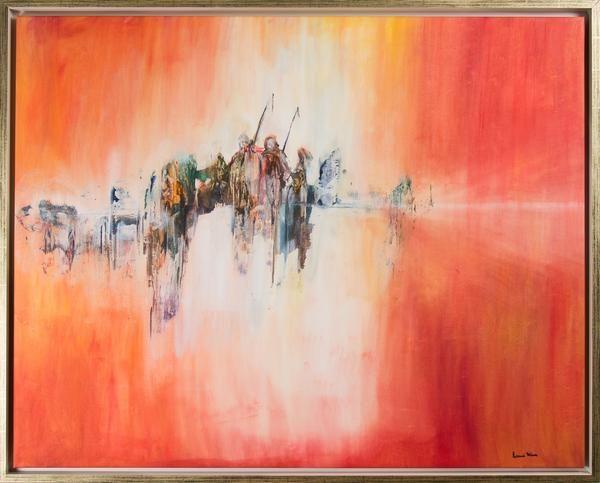 """Louise Hävre - """"Sclarffenland"""" finns att köpa hos oss på Galleri Melefors / is avialable for purchase at Galleri Melefors #louisehävre #louise #hävre #havre #art #painting #oil #interiordesign #design # #decoration #orange #darkness #death #reaper #abstract #forsale #konst #målning #olja #interiör #inredning #mörker #död #lieman #abstrakt #tillsalu #gallerimelefors #melefors"""