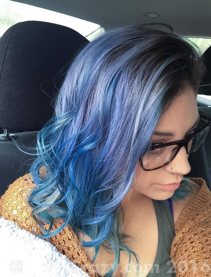 SalAmandaPanda -   - Adore - Lavender   - Ion - Shark Blue   - Manic Panic Shocking Blue   - Sparks - Starbright Silver