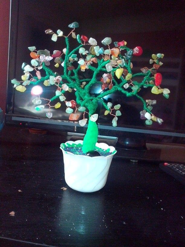 Drzewko szczescia - kamienie szlachetne