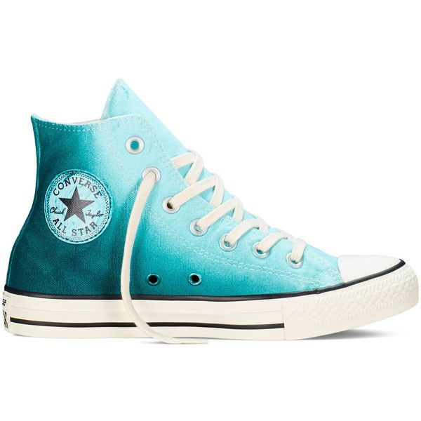Converse Chuck Taylor All Star Sunset Wash – motel pool/rebel... ($50) ❤ liked on Polyvore featuring shoes, sneakers, converse, teal blue shoes, converse footwear, teal shoes, star shoes and converse shoes