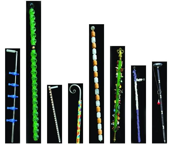 Quando il bastone da passeggio diventa un oggetto di design, l'opera di Luca Bolognese alla Mostra dell'Artigianato 2013.