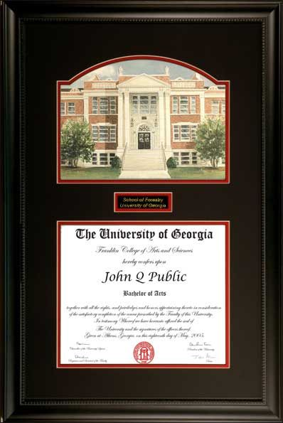 uga forestry school diploma frame