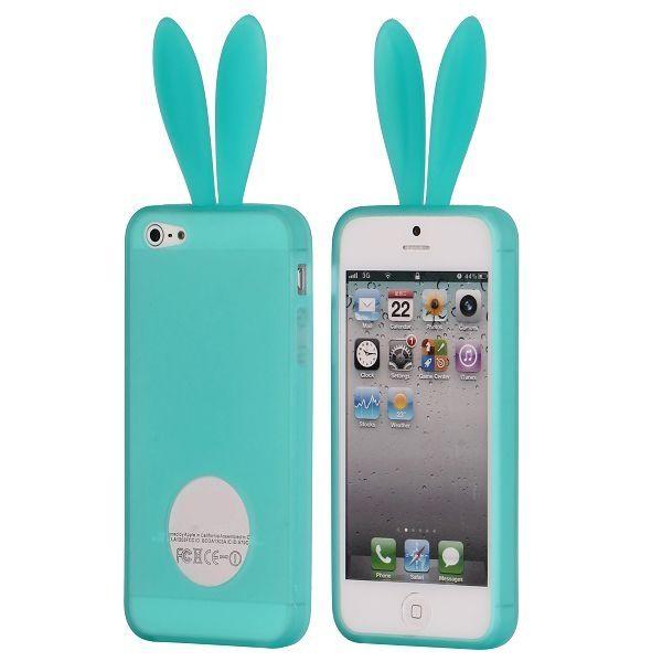 Schattig bunny gelhoesje voor de iPhone 5. -