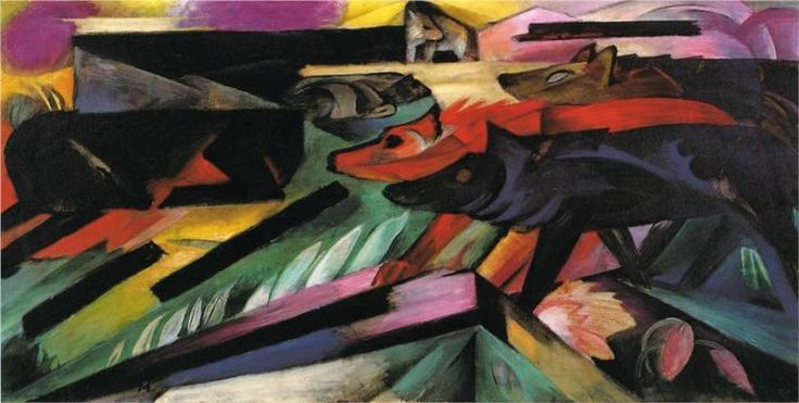 Franz Marc - The wolves, 1913