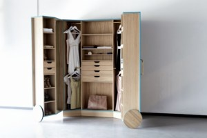 "The depth of a standard wardrobe is 60 centimetres. That is simply not practical, believes Ho Sun Ching, because it means that you literally lose sight of your clothing; and what you don't see, you don't wear. Ching's Walk-In Closet is a smart storage unit designed to solve this problem. It opens out into a mini-fitting room, complete with mirrors to view outfits from every angle.The focus is on organisation and visibility. Drawers for accessories and the reduced depth does away ""hidden""…"