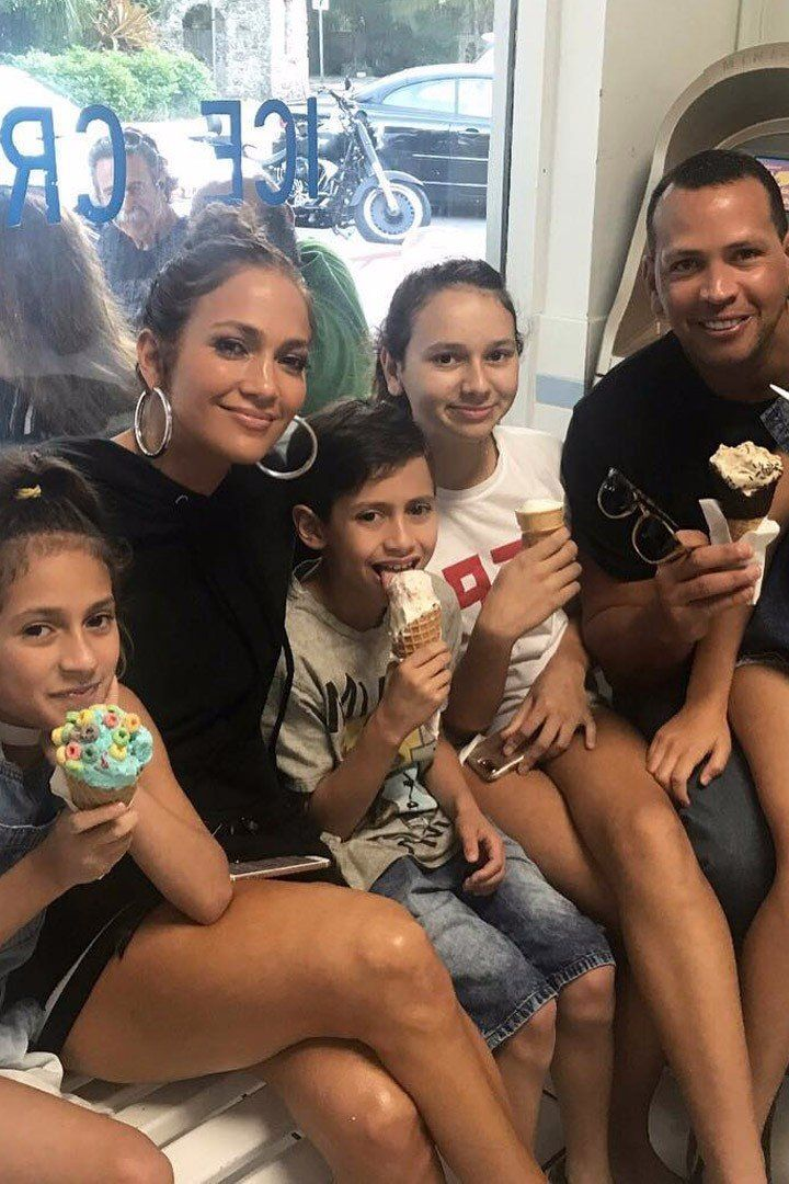 Jennifer Lopez and Alex Rodriguez Enjoy an Ice Cream-Filled Family Day With Their Kids