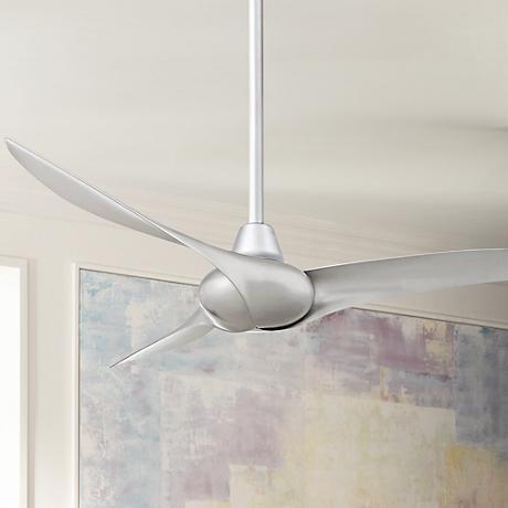 """52"""" Minka Aire Wave Silver Ceiling Fan"""