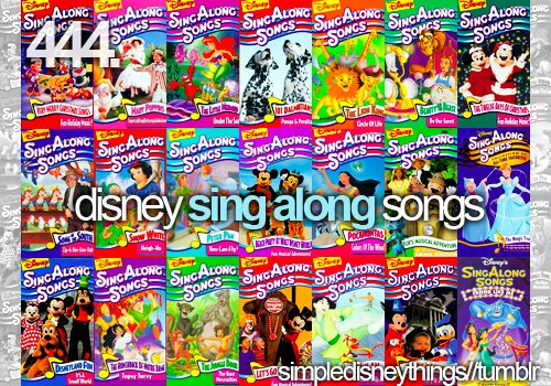 Sing Alongs... i loved these movies!!!!  Can we do disney song karaoke? PLEEEEEEASE
