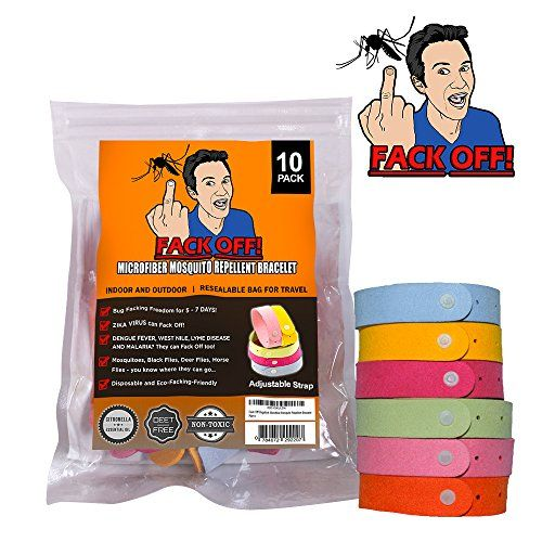 Fack Off! Microfiber Mosquito Repellent Bracelet (10 Pack) *** Learn more by visiting the image link.
