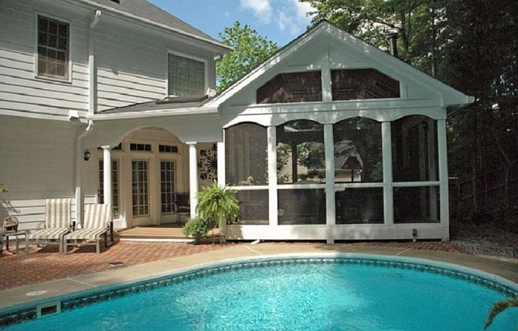 Screened In Pool : Poolside screened in porch ideas for your home http