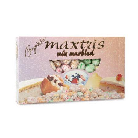 Maxtris Mix Marbled | Confetti Maxtris Confetto di forma classica, ricoperto da un sottile strato di zucchero aromatizzato. perfetto per la confettata. Confezione da 1kg. - Confetti e Fai da Te, Confetti Vari Gusti -   Confetti mix Marbled Maxtris tanti gusti            Ogni confezione di confetti contiene un mix dei seguenti gusti:            Ricotta e pera - yogurt ai frutti di bosco - babà e panna - delizia al limone -   cassata siciliana            I confetti mix Marbled so