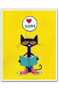 Pete the CatCat Posters, Alas Stores, Librarians Stuff, Pete The Cats, Pin Friday, Favorite Pin, Bookworm Pin, Children Librarians, Cat Reading