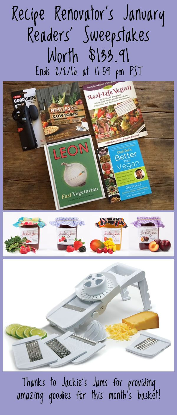 205 best giveaways images on pinterest giveaways tool kit and great collection of vegan vegetarian cookbooks for the taking from recipe renovators january 16 readers sweepstakes fandeluxe Images